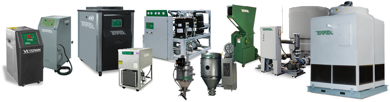 Process cooling, loading and grinding equipment from Temptek, Inc.