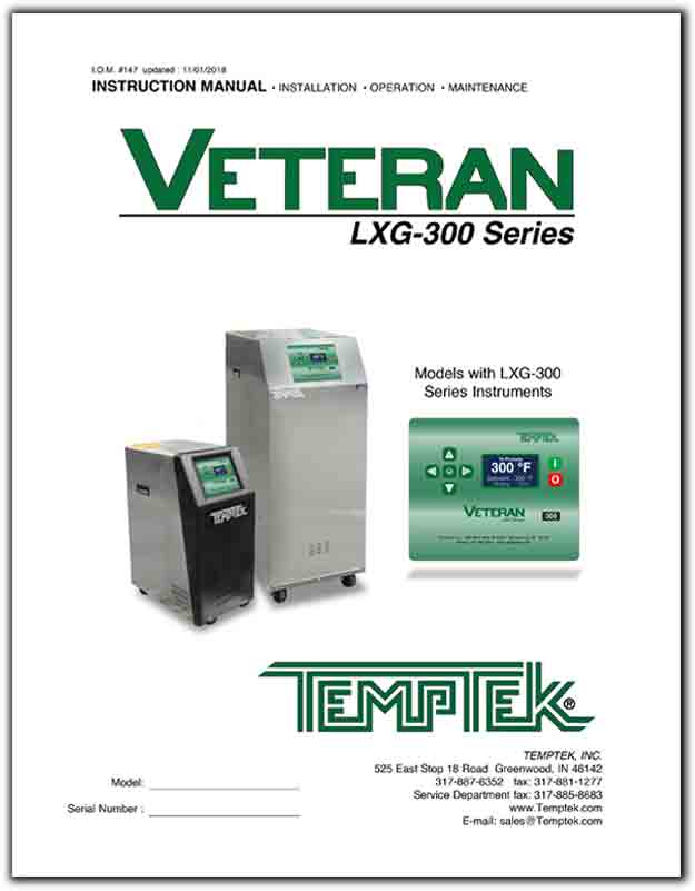 Download the Operations Manual for the VT-LXT-300 temperature control unit
