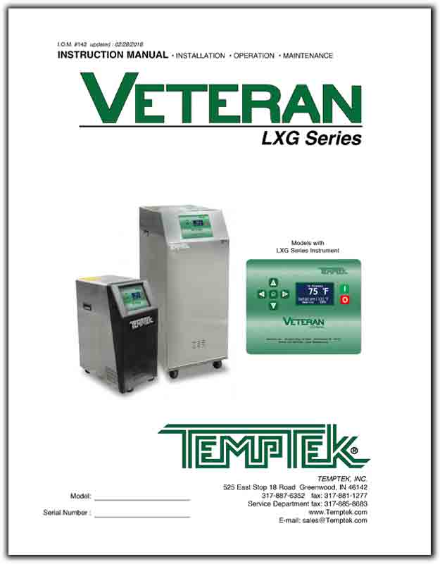 Download the Operations Manual for the VT-LXG temperature control unit