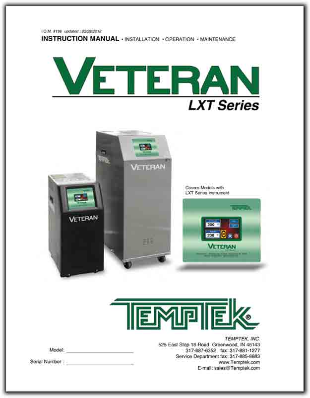 Download the Operations Manual for the VT-LXT temperature control unit