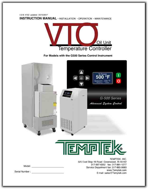 Download the Temptek VTO G500 manual.